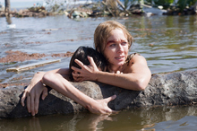 Maria (Naomi Watts) and Lucas (Tom Holland) survive the deluge in Thailand during the Boxing Day tsunami. Photo / Supplied