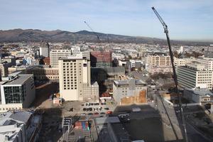 The earthquake-damaged Christchurch CBD. Photo / NZ Herald