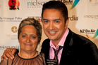 Matai Smith, pictured with his mother Honey Smith, after he won the prize for best presenter at the New Zealand Television Awards.  Photo / Neville Marriner