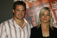 Richie McCaw and Hayley Holt were an item three years ago. Photo / Bradley Ambrose 