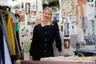 New Zealand fashion designer Ingrid Starnes in the workroom at her Pt Chevalier home. Photo / Sarah Ivey