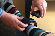 The GPS ankle bracelets to keep an eye on offenders can be produced cheaply and charged easily. Photo / Supplied