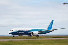The new Boeing 787 Dreamliner. Photo / Doug Sherring