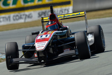 Lucas Auer during the Toyota Racing Series in Timaru.  Photo / Bruce Jenkins