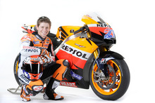 Casey Stoner pictured with his former Moto GP Honda. Photo / Supplied