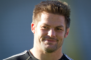 A survey has found that All Black captain Richie McCaw is the celebrity Kiwis would most like to have lunch with. Photo / NZ Herald