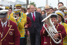 David Shearer visited Ratana Marae this week for celebrations in honour of the  founder's birthday. Photo / Mark Mitchell