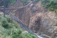KiwiRail decided after the line was washed out that reinstating it was not justified. Photo / Supplied