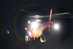 The girl was flown to Whakatane with back injures. Photo / APN