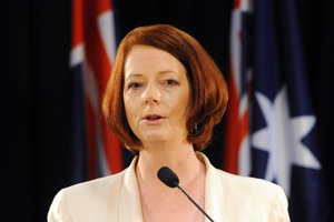 Australian Prime Minister Julia Gillard. Photo / Ross Setford