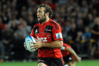 Adam Whitelock is a steady player with excellent defence, but he lacks Zac Guildford's speed. Photo / NZPA