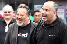 Pita Sharples and Te Ururoa Flavell in 2008. File photo / NZPA