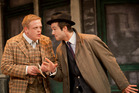 Owain Arthur and Ben Mansfield in One Man, Two Guvnors. Photo / Johan Persson