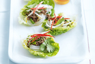 Coriander beef with noodles. Photo / William Meppem, Donna Hay Magazine