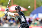 Kane Williamson's unbeaten 145 surpassed Scott Styris' 2003 mark. Photo / AP