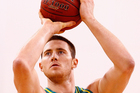 Aron Baynes in action for Australia. Photo / Getty Images