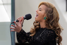 Beyonce sings at President Barack Obama's inauguration. Photo/AP