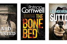 Hard Twist by C. Josheph Greaves, The Bone Bed by Patrick Cornwell and Sutton by J.R. Moehringer. Photo / Supplie