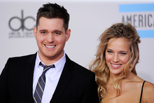 Michael Buble and Luisana Lopilato. Photo/AP