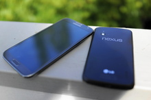 The Samsung Galaxy Note II and the Google LG Nexus 4. Photo / Juha Saarinen