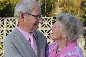 88-year-old Dorothy Inglis with husband Peter. Photo / Craig Baxter