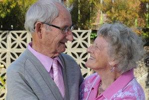 88-year-old Dorothy Inglis with husband Peter. Photo / Craig Baxter