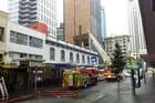Up to 80 firefighters were on the scene of a blaze in downtown Auckland. Video/Bradley Ambrose