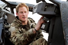 Prince Harry on duty in Afghanistan. Photo/AP