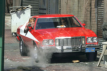 The 'Red Tomato' Gran Torino played a starring role in Starsky and Hutch. Photo/supplied
