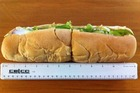 Subway foot-long from Featherston Street, central Wellington. Photo / Rebecca Quilliam