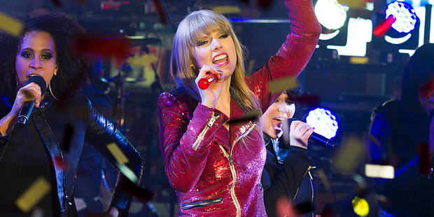 Taylor Swift performs in New York. Photo/AP