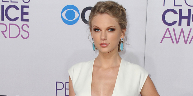 Taylor Swift at the People's Choice Awards. Photo/AP