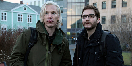 Benedict Cumberbatch and Daniel Bruehl in the first image released from The Fifth Estate. Photo/supplied