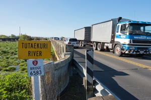 The Tutaekuri Bridge on SH2 at Awatoto will be upgraded by NZTA, commencing in the New Year, at a cost of about $800,000. Photo / Glenn Taylor