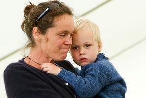 Sarah Watson with Theo.