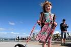 Jamie-Lee Hayson, 6, and her puppy Georgi