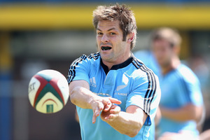 Richie McCaw during a New Zealand All Blacks training session at Wits University. Photo / Getty Images