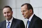 John Key and Tony Abbott hold a joint press conference. Photo / Getty Images