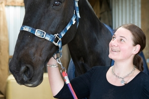 PAIR: Kelsi Halliday, 24, and Kauri have formed a special bond as part of a Horses for Healing course. PHOTO/ RON BURGIN