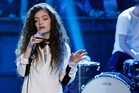 Lorde performing on the American television talk show Late Night With Jimmy Fallon. Picture / Getty Images
