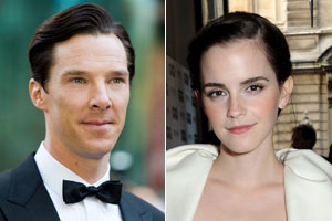 Benedict Cumberbatch and Emma Watson. Photos / Getty, AP