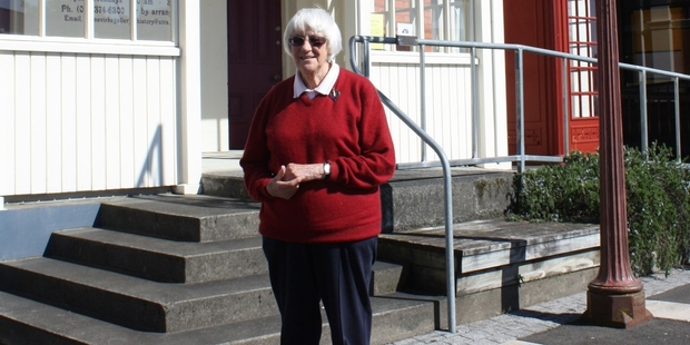 Pat Mills president of the Dannevirke Gallery of History in front of the former court house which is celebrating 25 years as our district's museum with an open day on Saturday, October 5.