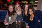Sophie Harpur, left, Lana van Bergenhenegouwen, Anna Jensen and Harsha Dahya at Shadows Bar. Photo / Steven McNicholl