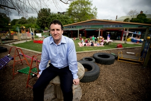 Parnell Community Trust chief executive Chris Davidson at its Gladstone Park childcare centre. Photo / Dean Purcell