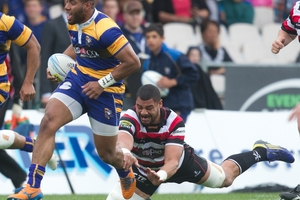 STRONG RUN: Steamers winger Tino Nemani in action during the defeat to Counties Manukau last week.PHOTO/STEPHEN PARKER