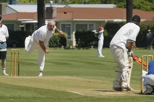 An archetypal New Zealand cricket scene from Nelson Park, Napier. Photo / Hawkes Bay Today