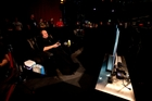 Kim Dotcom went to Digital Nationz with his own couches, snacks and blanket. Photo / Dean Purcell