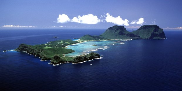 An aerial view of the beautiful Lord Howe Island. Photo / Tourism New South Wales