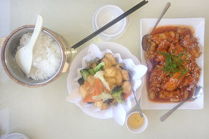 Rice, tofu and pork.Photo / NZ Herald online