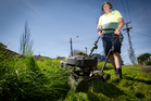 David Wright of Jim's Mowing says many retirees can't afford extra for berm mowing.  Photo / Sarah Ivey